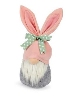 """Galt Easter Boy Bunny 13"""" h Plush Tabletop Gnome with Bunny"""