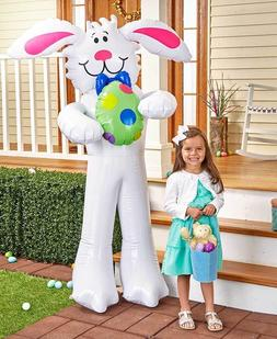Giant Inflatable Easter Bunny Holding Egg - Over 5 Ft Tall -