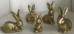 Gold Easter Bunny Set