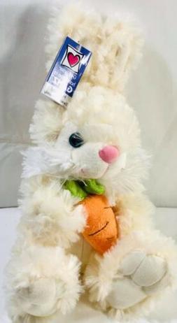 "Ganz Grey Easter Bunny Plush 12"" Stuffed Animal NEW Cotton"