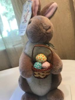 Gund Easter Rabbit Disney Classic Pooh Basket w Eggs Collect