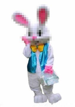 Easter Bunny Mascot Costume Rabbit Cartoon Dress Adult Size
