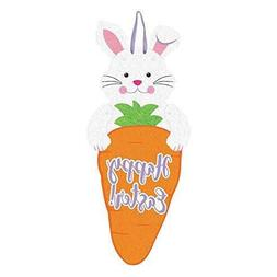 Amscan Happy Easter Bunny/Carrot Jointed Felt Signs 60cm