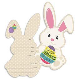 Hippity Hoppity - Shaped Fill-in Invitations - Easter Bunny