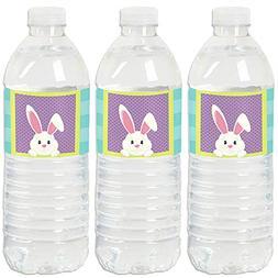 Hippity Hoppity - Easter Bunny Party Water Bottle Sticker La