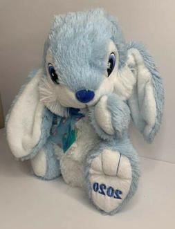 Hoppy Hopster Easter Bunny 2020 Dan Dee NEW Blue/White Fluff