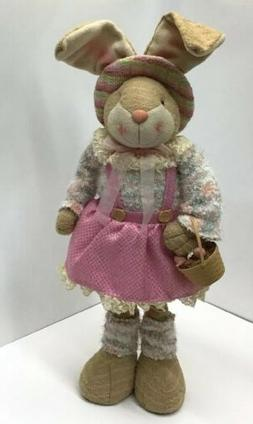 Hunting Eggs Standing Country Style Girl- Easter Bunny 36 In