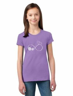 Infinity Easter Bunny & Eggs Girls' Fitted Kids T-Shirt Gift