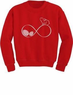 Infinity Easter Bunny & Eggs Youth Kids Sweatshirt Gift Idea