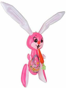"""Inflatable Easter Bunny Rabbit - Large 48"""" Pink"""