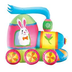Collections Etc Inflatable Easter Bunny Train Outdoor Yard D