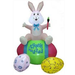 Inflatable Outdoor Easter Bunny Eggs Decoration Yard Lawn De