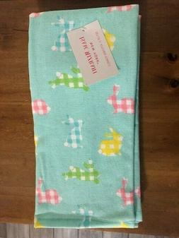 Isaac Mizrahi Easter Bunny Kitchen Towels Gingham Plaid Bunn