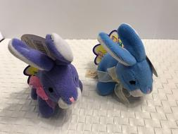 Dan Dee Itsy Bitsy Easter Bunny Rabbit ~ Lot of 2 Purple & B
