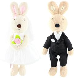 JIARU Toy Bunny Rabbits Plush Stuffed Animals for Lover Vale
