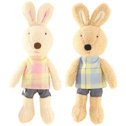 JIARU Toy Bunny Rabbits Stuffed Plush Animals,Check,12 Inche