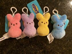 "Just Born Peeps Marshmallow Bunny Easter Plush 4"" Backpack C"