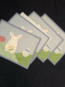 Pottery Barn Kids Easter Bunny Fabric Placemat New Set Of 4