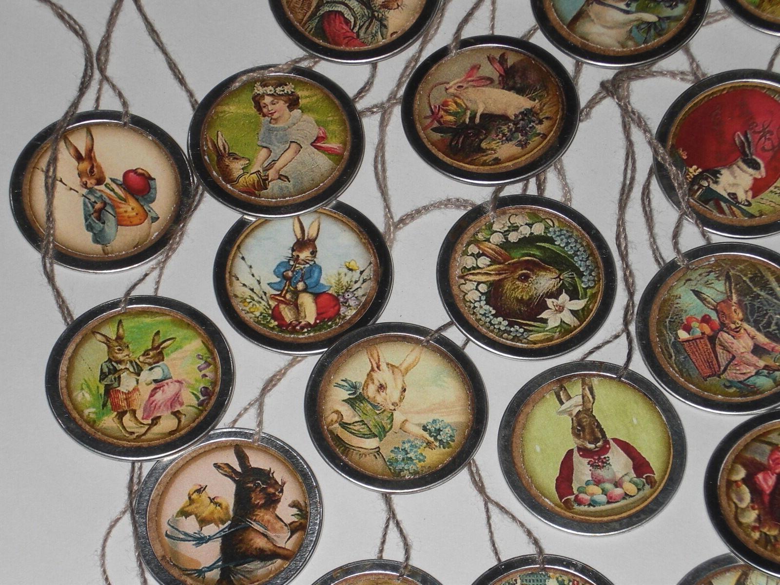 10 Easter Hang Tags Mini Ornaments