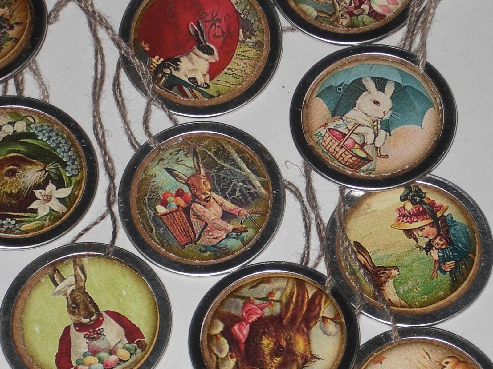 10 Easter Rim Hang Mini Ornaments