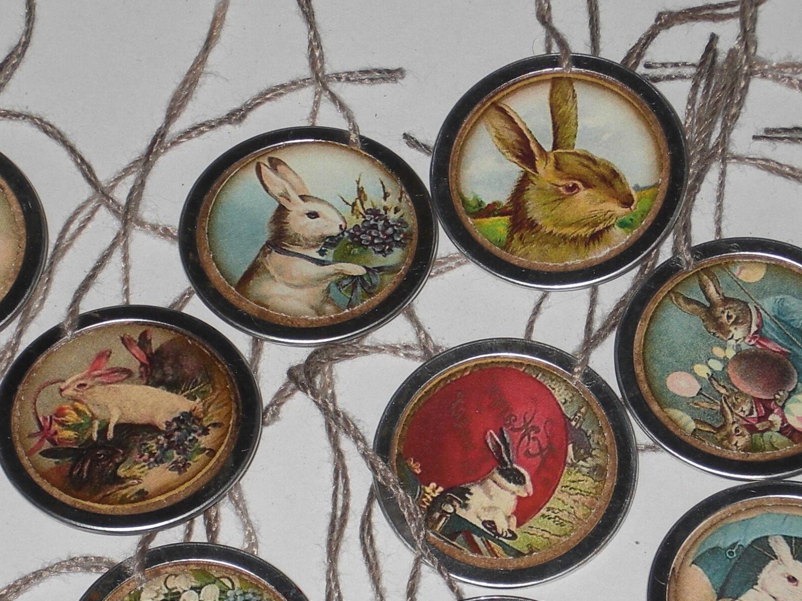 10 Easter Bunny Hang Tags Mini Tree Ornaments