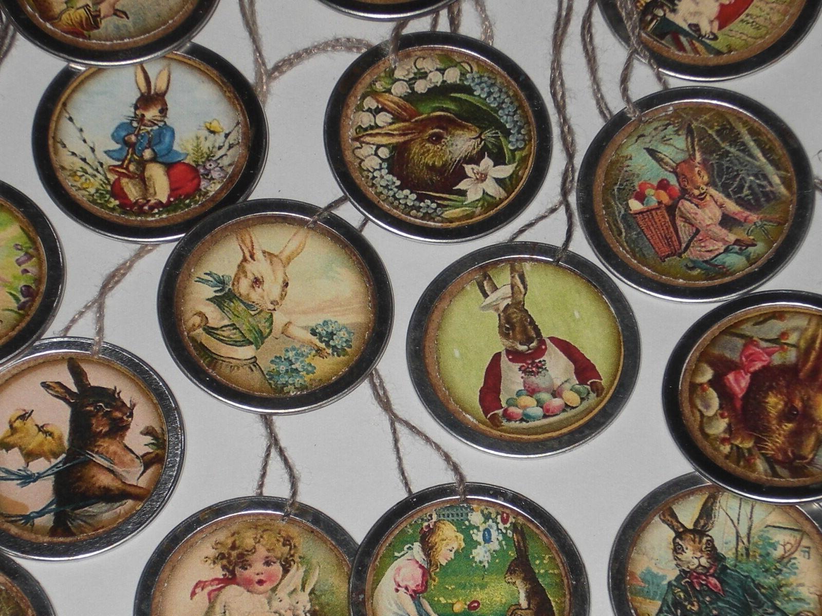 10 Easter Metal Hang Mini Ornaments