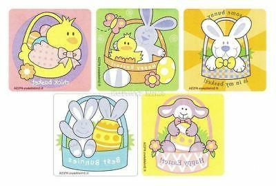 15 Easter Bunny Chick Lamb Stickers Party Goody Bag Basket F