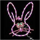 18' LED Lighted Easter Bunny Head Window Silhouette Decorati