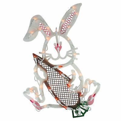 Bunny Rabbit Window Silhouette Decoration