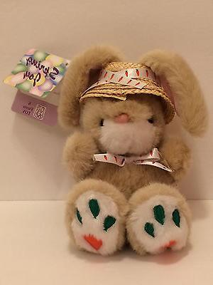 FIESTA 1995 Easter Bunny Rabbit Spring Plush Toy ~ Carrot Pa