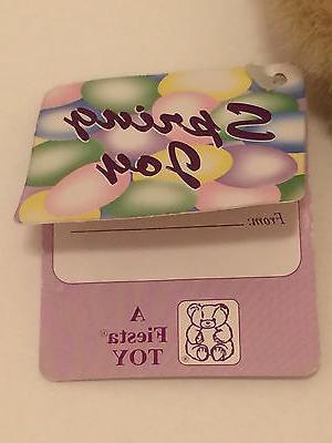 FIESTA 1995 Bunny Rabbit Toy ~ Carrot Hat -