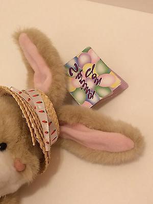 FIESTA Rabbit Spring Plush ~ Carrot Straw Hat