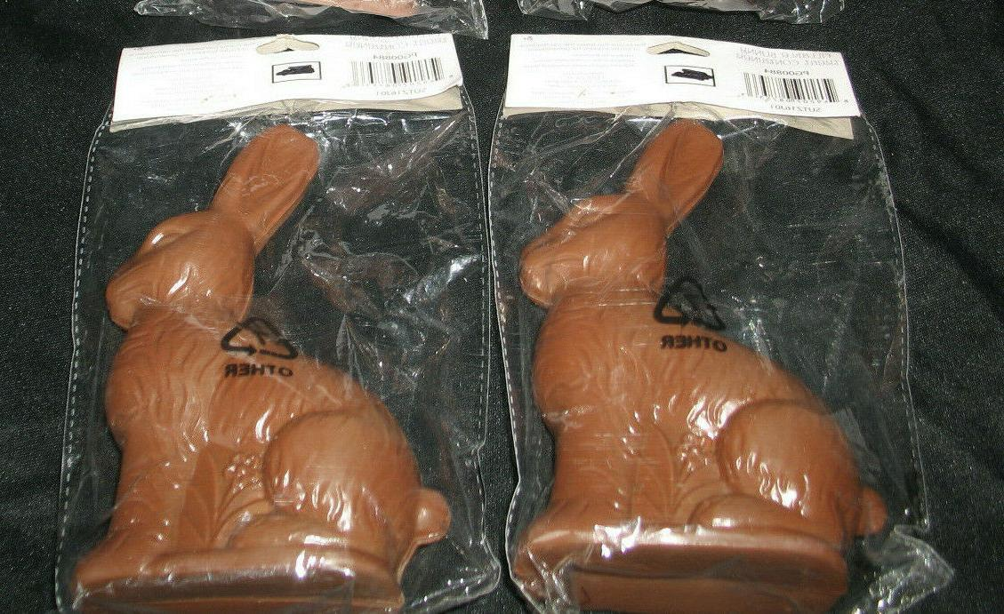 2 Fake Rabbit Shaped Easter Candy Containers Decor