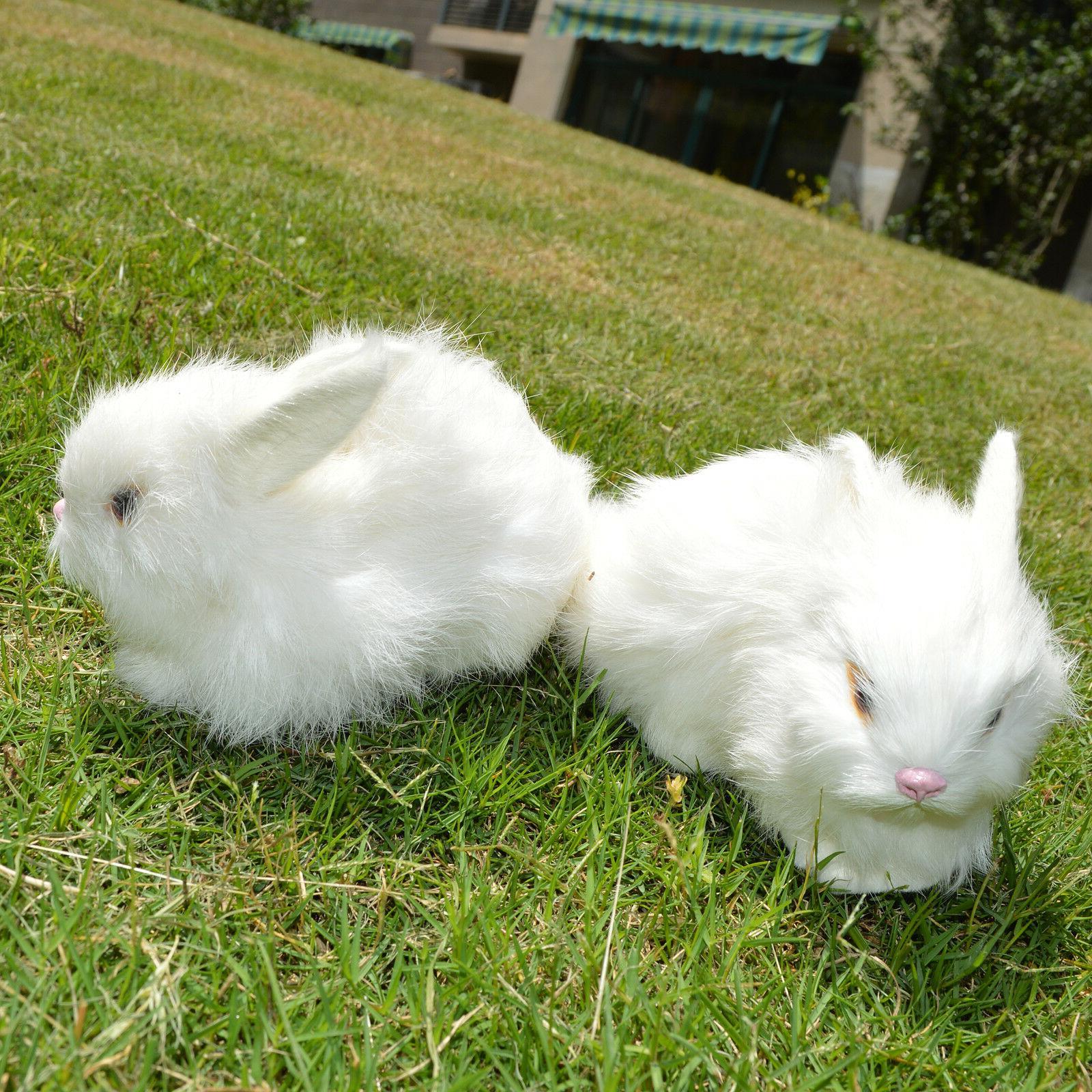2 Lifelike Animal Bunnies
