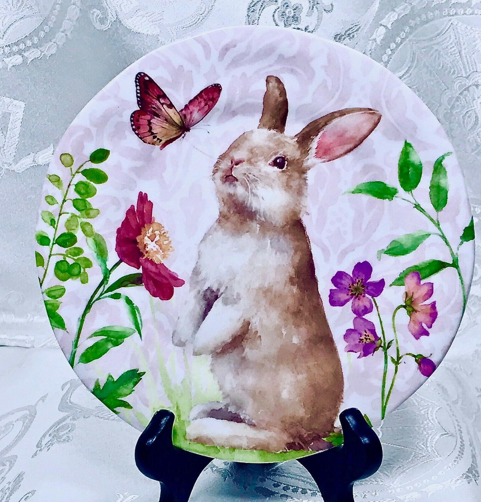 """208 Easter Softies"""" Salad Plates x 4 ~ BPA"""