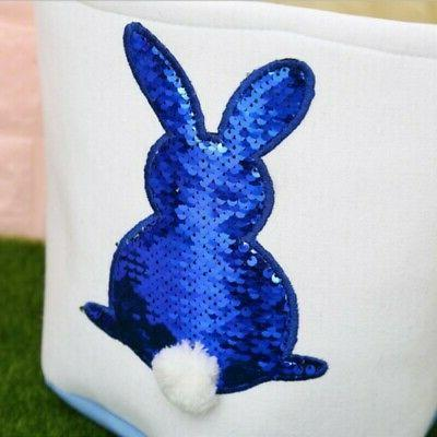 4 Basket Rabbit Bunny Printed Gift Carry Candy-Bag