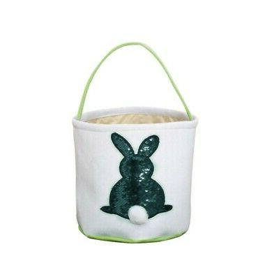 4 Color Easter Egg Basket Rabbit Printed Gift Candy-Bag