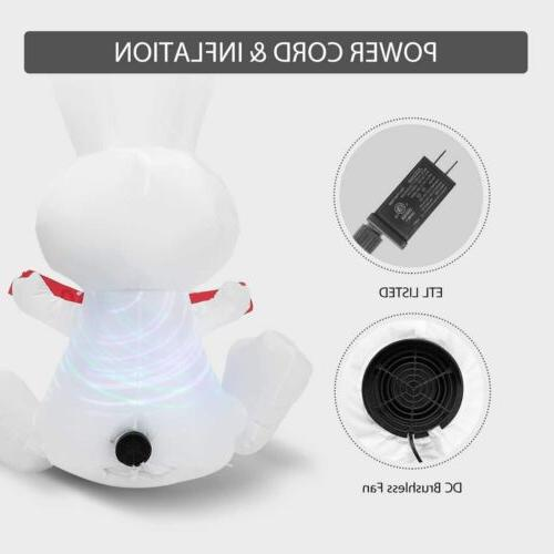 VIVOHOME Inflatable Airblown Happy Easter Bunny