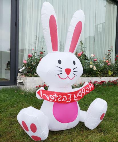 4ft inflatable airblown happy easter bunny rabbit