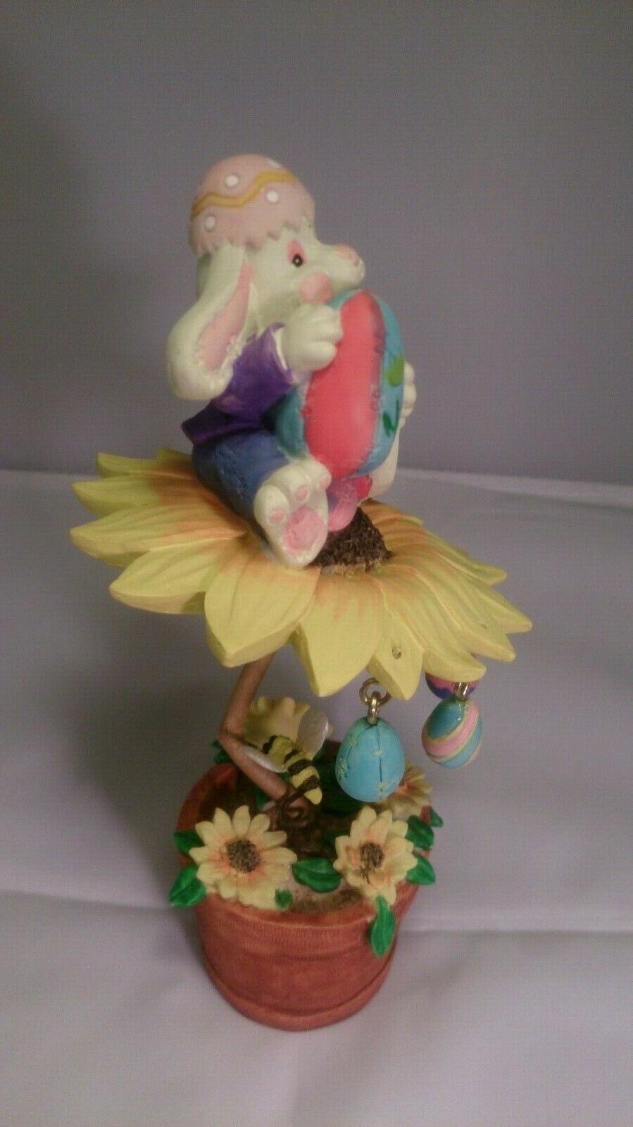 "7"" Bunny ceramic figurine collectible"