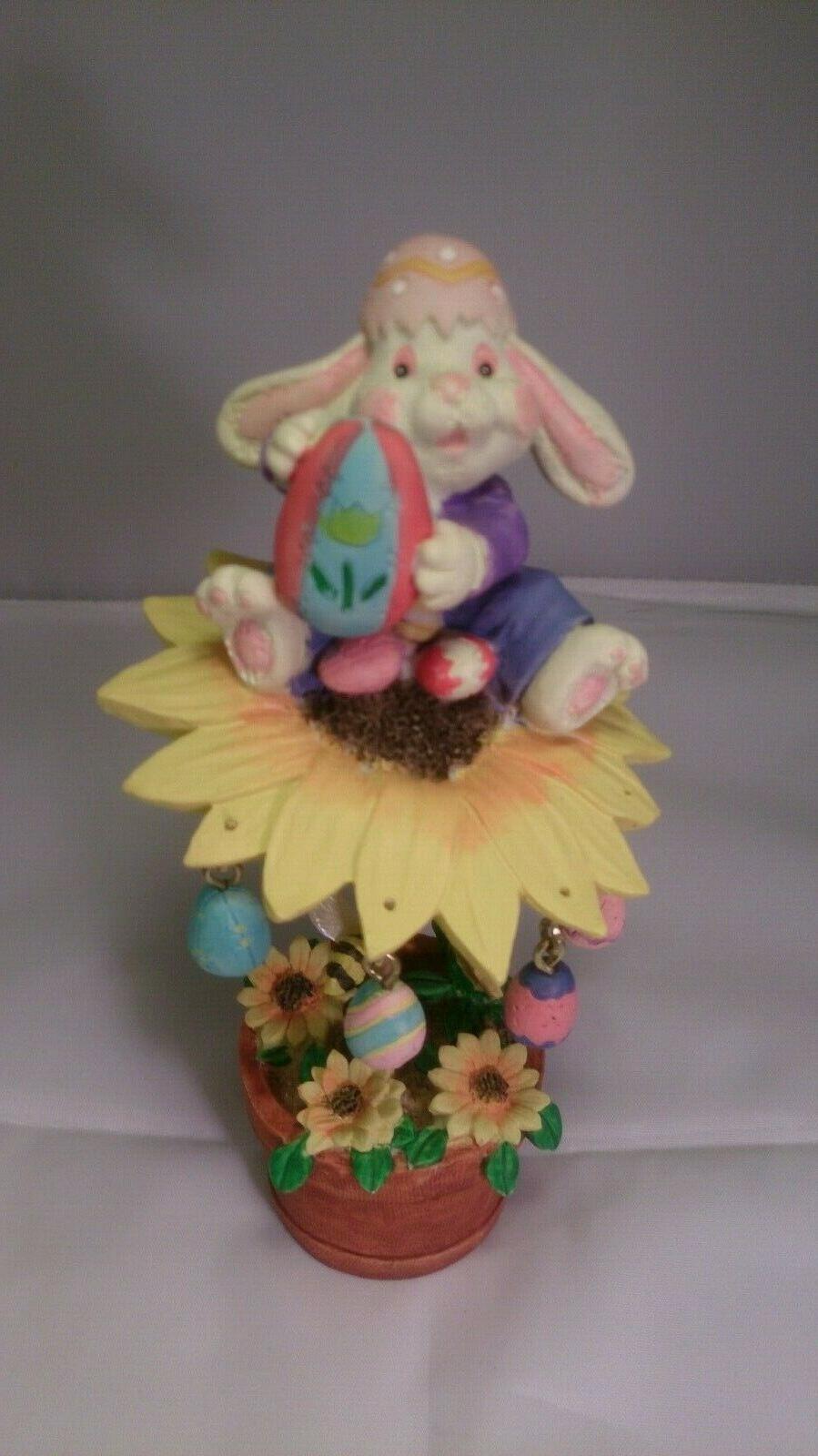 "7"" Easter Bunny figurine decor Vintage"