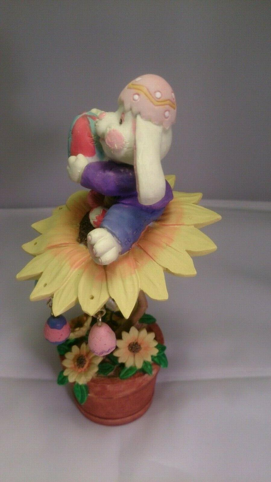 "7"" Easter ceramic figurine decor"