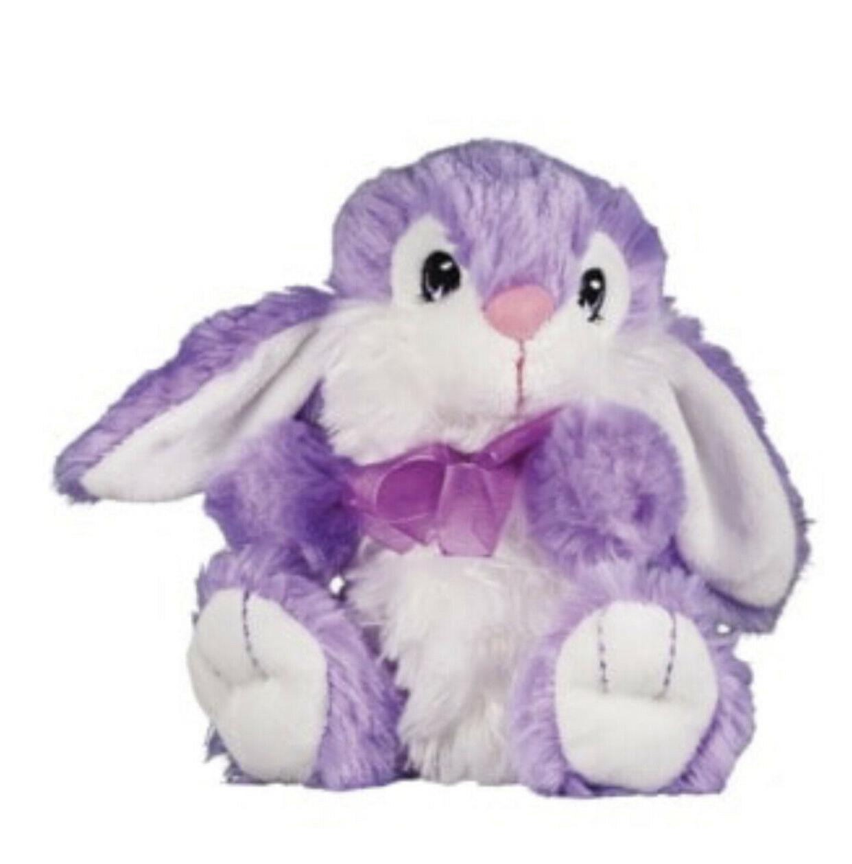 "7"" Plush Easter Spring Toy Filler NWT Purple Brown"