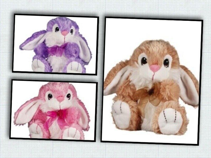 7 plush bunny dandee easter spring toy
