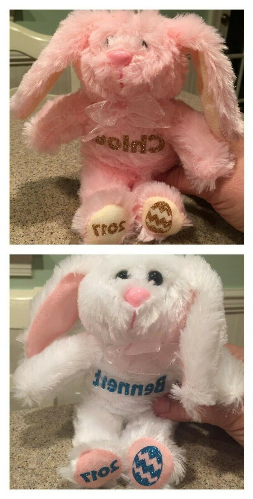"Personalized Easter Stuffed Animal Plush 9"" Bunny w/ FREE sh"