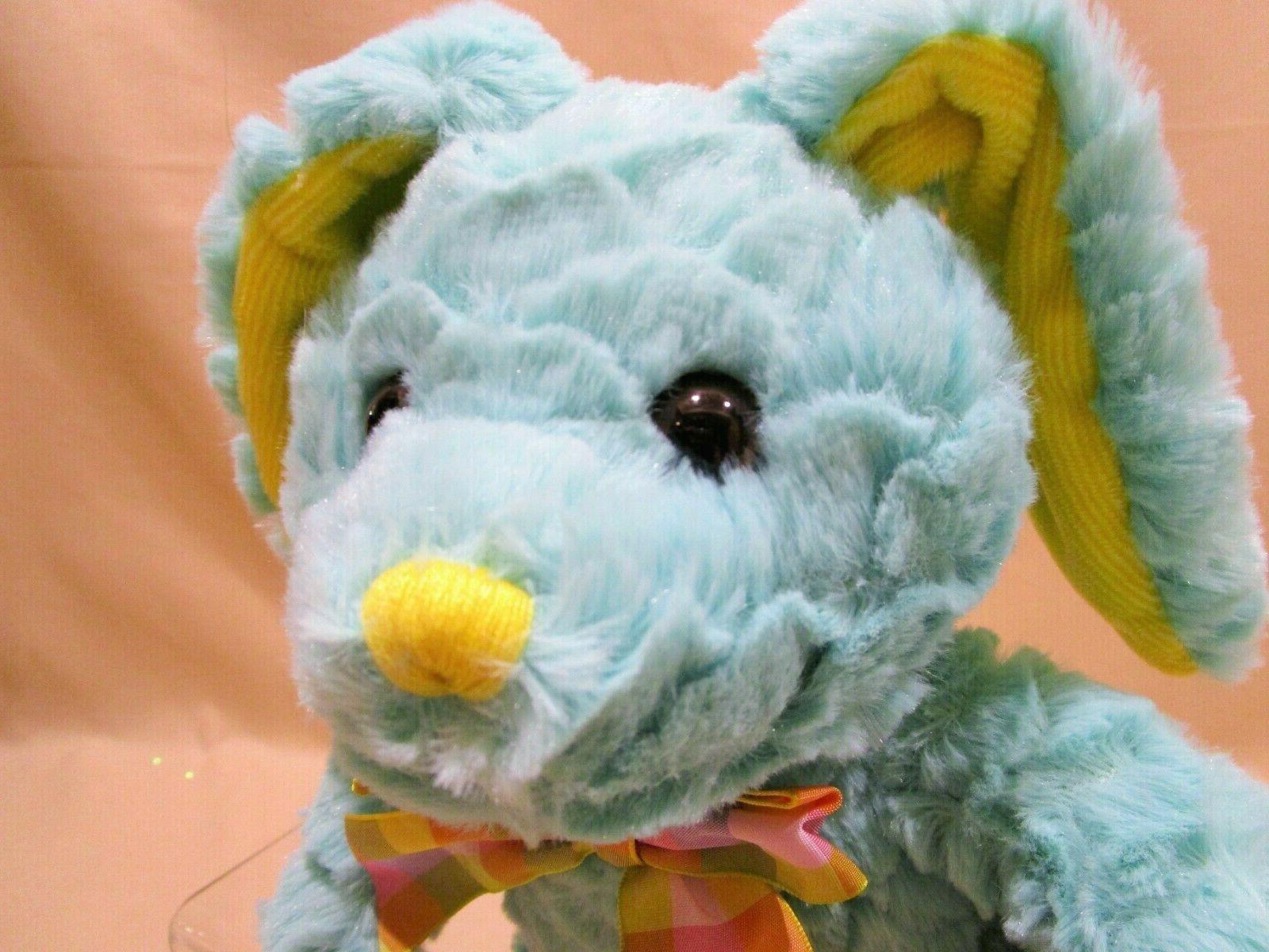 Aqua Bunny Stuffed Baby Toy NEW w/