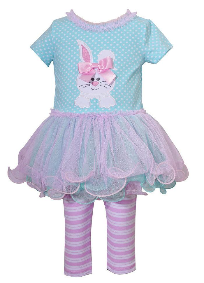 Bonnie Jean Baby Girls Bunny Holiday Easter Multi Tutu Dress