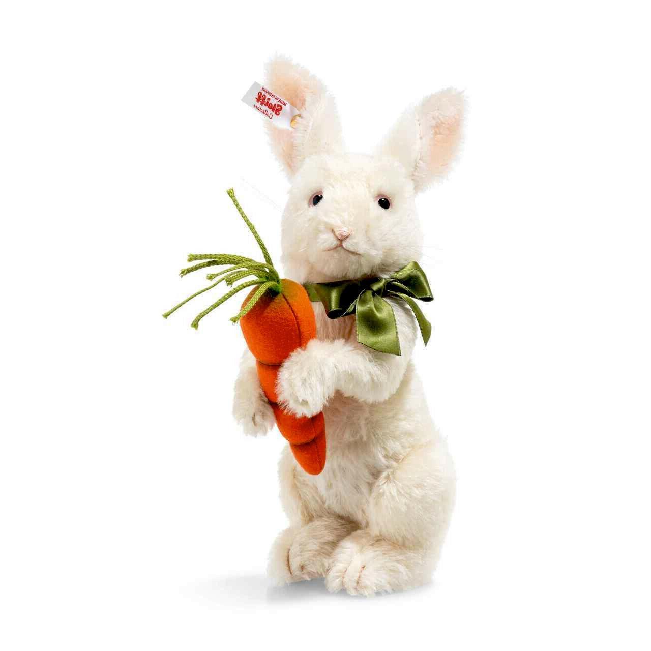 """Steiff SPRINGTIME RABBIT 10"""" White Mohair Bunny Rabbit"""