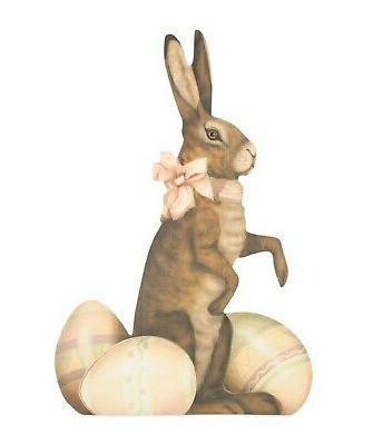 """Bethany Lowe Large 16"""" Sweet Bunny With Eggs Large Dummy Boa"""