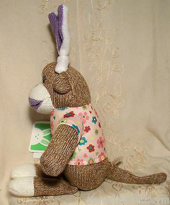 Dan Dee Sock Monkey Ears Toy Purple